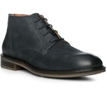 Schuhe Stiefeletten, Leder, rauchblau