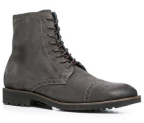 Schuhe Stiefeletten Kalbvelours dunkelgrau
