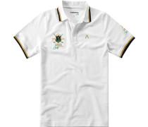 Herren Polo-Shirt Polo Coolmax-Baumwolle-Mix weiß