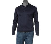 Herren Polo-Shirt Baumwolljersey dunkelblau