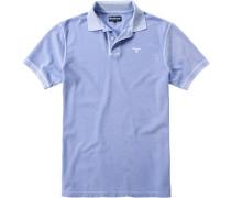 Polo-Shirt Polo Baumwoll-Piqué himmelblau