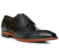 Schuhe Budapester Leder testa di moro