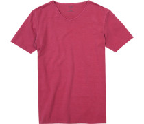 T-Shirt Body Fit Baumwolle fuchsia