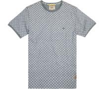 T-Shirt Baumwolle gemustert