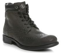 Herren Schuhe Stiefeletten Nubukleder anthrazit grau,schwarz