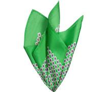 Accessoires Einstecktuch Seide hellgrün gemustert