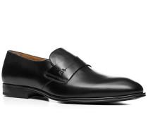 Herren Schuhe Loafers Kalbleder schwarz schwarz,braun