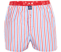 Unterwäsche Boxer-Shorts Baumwolle -blau gestreift