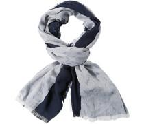 Schal Viskose nachtblau-hellgrau gemustert