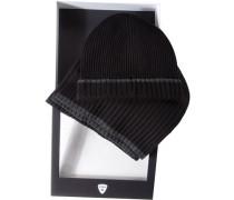 strellson Mütze+Schal Wolle