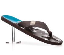 Herren Schuhe Zehensandalen Kunststoff braun-türkis gemustert braun,braun