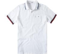 Herren Polo-Shirt Polo Modern Fit Baumwoll-Piqué weiß
