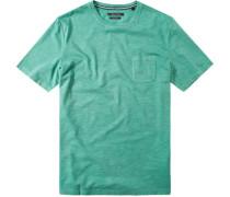 T-Shirt Baumwolle hellgrün meliert