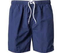 Herren Bademode Bade-Shorts Microfaser marine blau