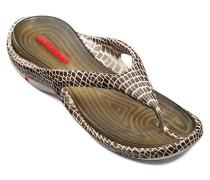 Herren Schuhe BEACH Gummi braun-ecru