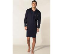 Herren Nachthemd Baumwolljersey marine blau