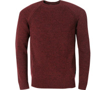Pullover Pulli, Wolle, rot meliert
