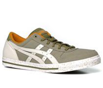 Herren Schuhe Sneaker Canvas khaki grün,orange