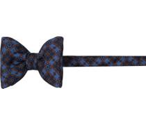 Herren Krawatte Schleife Seide marineblau