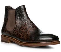 Schuhe Chelsea Boot Leder cuoio-nero