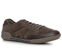 Herren Schuhe Sneaker Veloursleder dunkelbraun