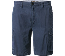 Hose Cargoshorts Regular Fit Baumwolle navy