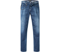 Jeans, Slim Fit, Baumwoll-Stretch, dunkelblau