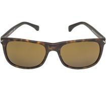 Brillen Sonnenbrille, Kunststoff, -bernstein marmoriert