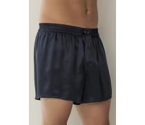 Schlafanzug Shorts Seide schwarz oder nachtblau