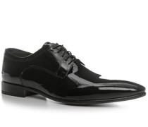 Herren Schnürschuhe Lackleder schwarz violett,grau