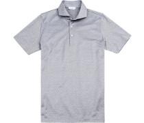 Polohemd Baumwoll-Jersey gepunktet