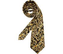 Herren Krawatte  gelb