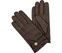 Handschuhe Leder mittelbraun