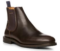 Schuhe Chelsea-Boots Rindleder dunkelbraun