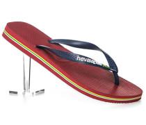 Schuhe Zehensandalen, Gummi, navy-marsala