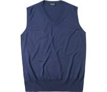 Pullover Pullunder Kaschmir-Seide navy