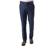 Hose Shape Fit Schurwolle Super130 REDA dunkelblau-schwarz meliert