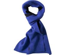 Schal Schurwolle marineblau-capriblau
