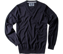 Herren Pullover Baumwolle marineblau
