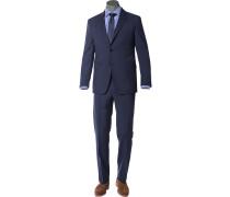 Anzug Wolle dunkelblau