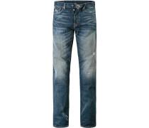 Herren Jeans Slim Fit Baumwolle denim blau
