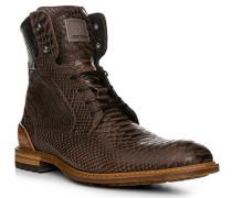 Schuhe Stiefeletten Kalbleder dunkelbraun