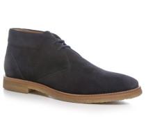 Herren Schuhe Desert Boots Veloursleder marineblau blau,beige