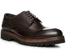 Schuhe Budapester, Leder, dunkelbraun