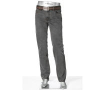 Herren Jeans Regular Slim Fit Denim grau