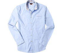 Hemd Slim Fit Chambray hellblau