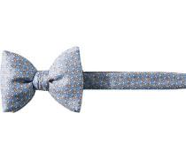 Herren Krawatte  Schleife Seide hellblau gemustert