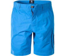 Hose Cargoshorts Regular Fit Baumwolle azurblau
