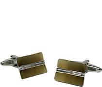 Schmuck Manschettenknöpfe Metall ockergelb-silber