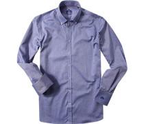 Herren Hemd Oxford blau meliert